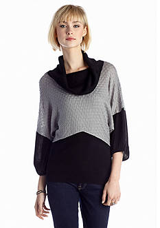 New Directions® Textured Color Block Sweater