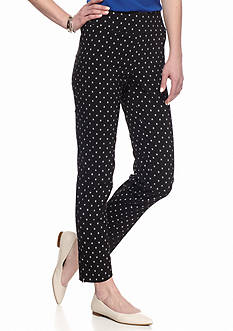 New Directions Geometric Printed Ankle Pants