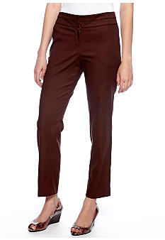 New Directions Split Waist Ankle Pants