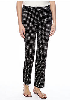 New Directions Sateen Dot Ankle Pants