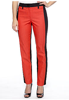 New Directions Petite Color Block Denim Pants