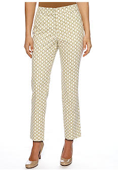 New Directions Petite Printed Ankle Pants
