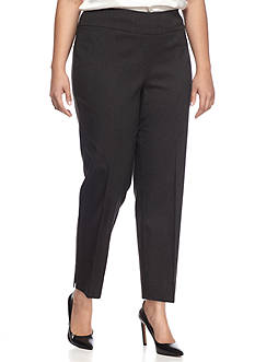 New Directions Plus Size Printed Millennium Ankle Pants