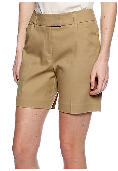 New Directions Solid Twill Shorts