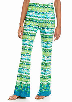 New Directions Printed Fit And Flare Pants