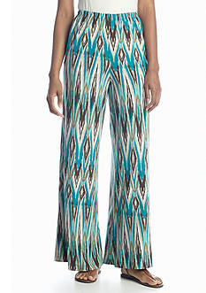 New Directions® Blurred Ikat Palazzo Pant