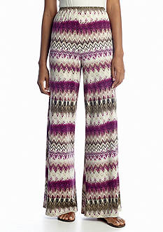 New Directions® Mini Chevron Palazzo Pant