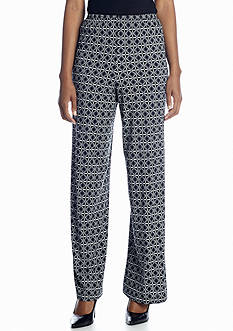 New Directions® Foulard Diamond Palazzo Pant