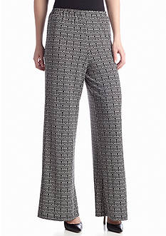 New Directions® Stacked Square Printed Palazzo Pant