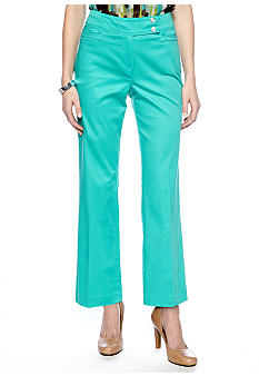 New Directions Petite Sateen Pant with Extended Tab