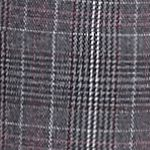 Petite Pants: Straight: Gray/Berry/Magenta New Directions Petite Size Fordham Plaid Pants