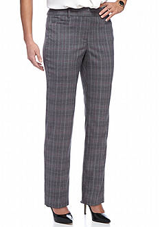 New Directions Petite Size Fordham Plaid Pants