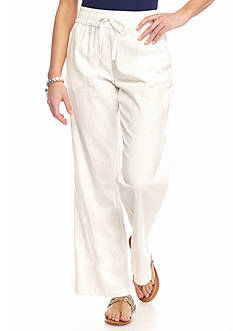 New Directions Petite Linen Soft Pants