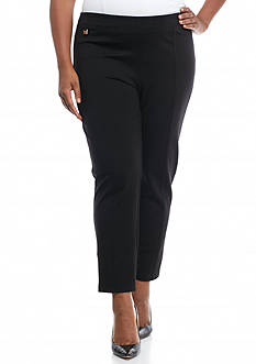 New Directions Plus Size Compression Pull-On Leggings