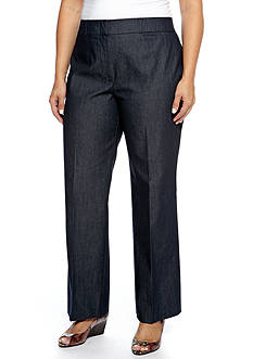 New Directions Plus Size Denim Elastic Pants