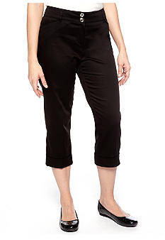 New Directions Sateen Slim Leg Crop