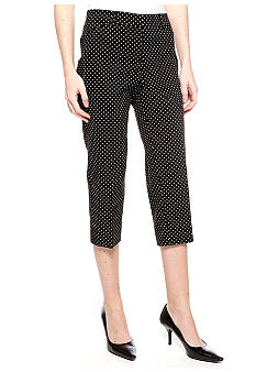 New Directions Dot Twill Crop