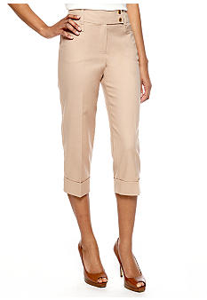 New Directions Tab Waist Crop Pant