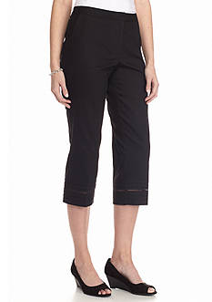 New Directions Marcella Threaded Hem Crop Pants