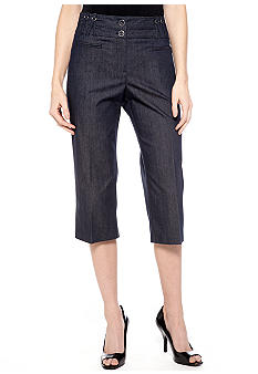 New Directions Petite Criss Cross Belt Loop Crop Jean