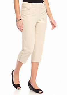 New Directions Petite Pull-On Crop Pants