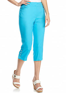 New Directions Petite Slim Leg Sateen Crop Pants
