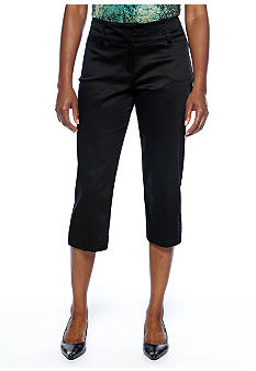 New Directions Petite Sateen Curvy Crop Pant