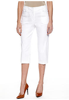 New Directions Petite Sateen Slim Leg Crop Pant