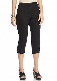 New Directions Petite Lace-Up Crop Pants