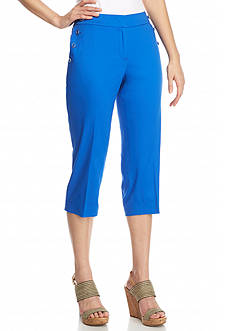New Directions Petite Sateen Slim Leg Crop Pants
