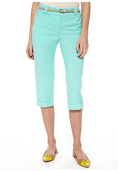 New Directions Petite Belted Crop Pant