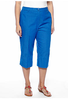 New Directions Plus Size Tummy Control Crop Pant