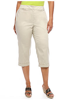 New Directions Plus Size Colored Capri