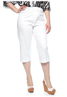 New Directions Plus Size Sateen Crop