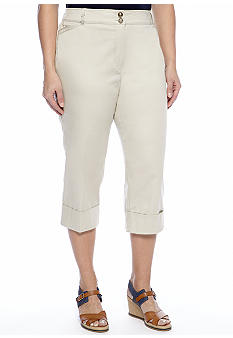 New Directions Plus Size Cuff Crop Pant