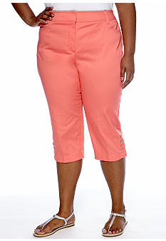 New Directions Plus Size Tummy Control Crop