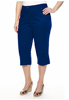 New Directions Plus Size Sateen Cuffed Crop