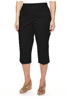New Directions Plus Size Sateen Crop Pants