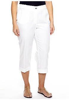 New Directions Plus Size Tummy Control Capri