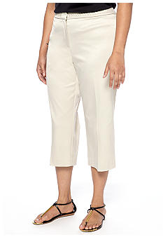 New Directions Plus Size Braided Waist Crop Pant