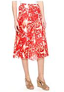 New Directions® Printed Crinkle Skirt