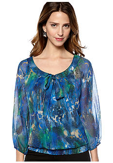 New Directions® Low Bow Blouse