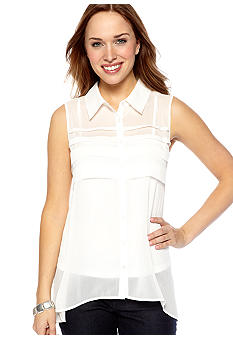 New Directions High Low Pleat Front