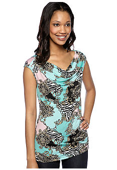 New Directions Sleeveless Drape Neck