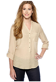 New Directions Slub Utility Shirt