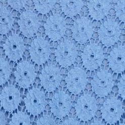 Blouses for Women: Blue New Directions Crochet Lace Blouse