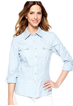 New Directions Chambray Dot