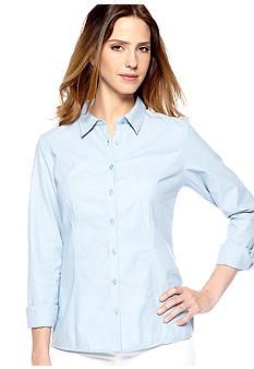 New Directions Chambray Lace Back