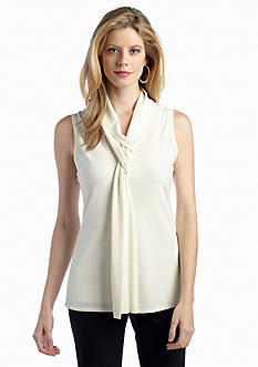 New Directions® Sleeveless Crepe Knit