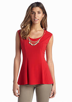 New Directions® Sleeveless Necklace Top